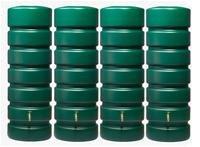 CLASSICO Gartentank SET 2600 L, grün 4 x CLASSICO 650 L, inkl. Verbinder