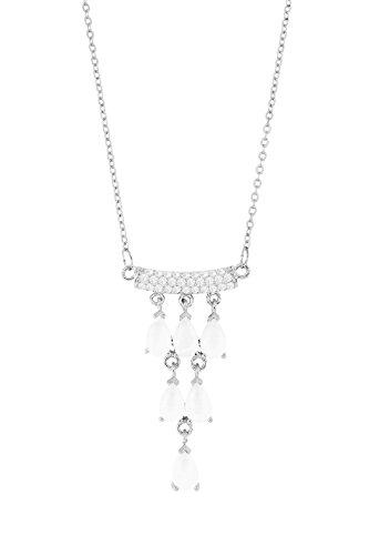 Wunderschöne Sheherezada Halskette Kette - Silber Farbe Strass - Sommer Trend
