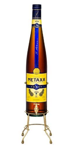 Metaxa 5* Sterne Weinbrand mit Ausgießer in 3,0 ltr.
