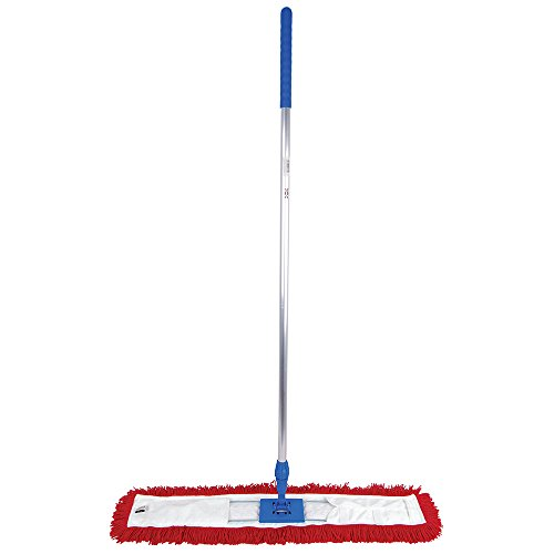 80cm Red Sweeper Mop: Machine Washable