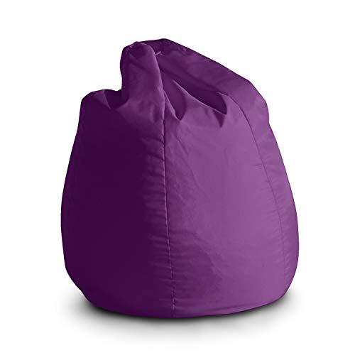 Avalon Pouf Poltrona Sacco per Bambini Bag Jive 65x65x90cm Made in Italy in Tessuto antistrappo Imbottito Colore Viola