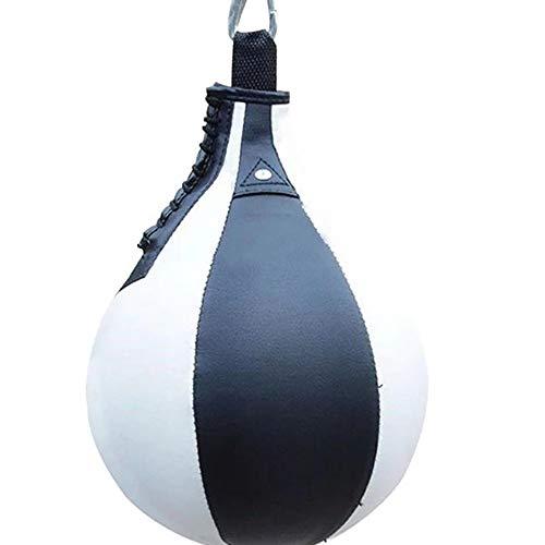 KEISL Bolsa de Velocidad Boxeo pera,Boxeo Velocidad de Bola,Bola de perforación Speedball Bolsa de Velocidad Speedball Bola de perforación para Adultos y niños (Blanco)