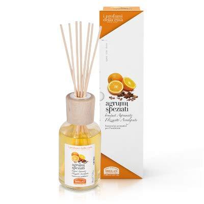 Helan - profumi casa agrumi speziati - bastoncini 100 ml [1 confezione] efficace | naturale | benessere quotidiano - [kit con integratore tonico-adattogeno in omaggio]