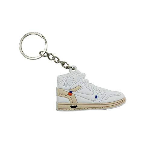 ProProCo Sneaker Schlüsselanhänger Jordn Air Nik Schlüsselanhänger Jordn 1 Schuh anhänger Fashion für Sneakerheads,Hype-Beasts Nik-e Supreme Palace (AJ1 OW White) - Yeezy 1 Nike