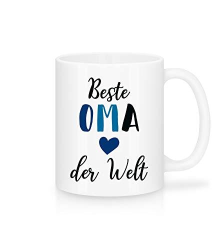 Shirtinator Tasse Beste Oma Der Welt Geschenk für Oma Geschenkideen für Oma Geburtstag Namenstag Weihnachten Schöne Kaffee-Tasse mit Spruch