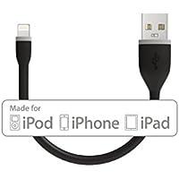 Satechi Cavo flessibile da Lightning a USB - 15 cm - Nero - Certificazione MFI Apple