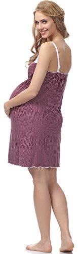 Be Mammy Maternité Chemise de Nuit Femme BE20-141 Violet