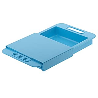 Chopping Board Sink with Basket Convenient Practical azure