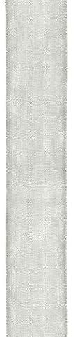 Caspari Holiday 1-1/ 2-inch Width Wired Ribbon, Sheer Silver