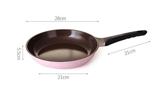 DONG Bratpfanne-keramische Wanne Dickes rauchfreies Steak nonstick Bratpfanne-Kocher Universalpfannkuchen-Omelettentopf Muttertaggeschenk