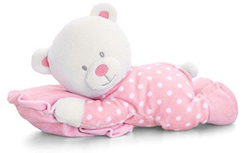 Lashuma Plüschtier Baby Bär Rosa mit Schmusekissen, Keel Kuscheltier, Teddy Stoffbär 25 cm (Plüschtiere Babys Für Rosa)