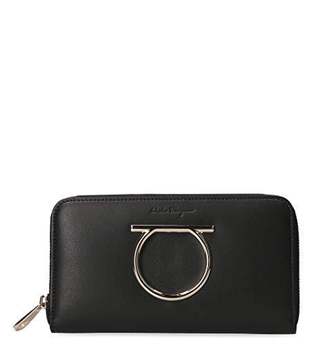 Salvatore Ferragamo Luxury Fashion Donna 691138 Nero Portafoglio | Primavera Estate 19