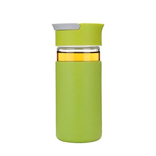 LOBZON Mejor botella de agua deportiva - 13.5oz 400ML -Portable Eco Fr