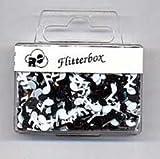 Folien-Konfetti Noten, schwarz und weiß, ca. 13 gr.
