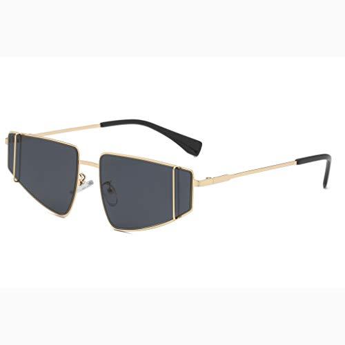 Harpily Metallische Sonnenbrille MäNner Und Frauen PersöNlichkeit Brillengestell Trendy Punk Wind Brillengestell Retro Brille