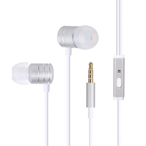 Preisvergleich Produktbild Duractron Premium In-Ears Stereo Kopfhörer/In Ear Ohrhörer mit Schutz vor Schweiß&Lärm inklusive Mikrofon kompatibel mit iPhone/iPad/iPod und Samsung bzw andere Android-Geräte usw (Weiß)