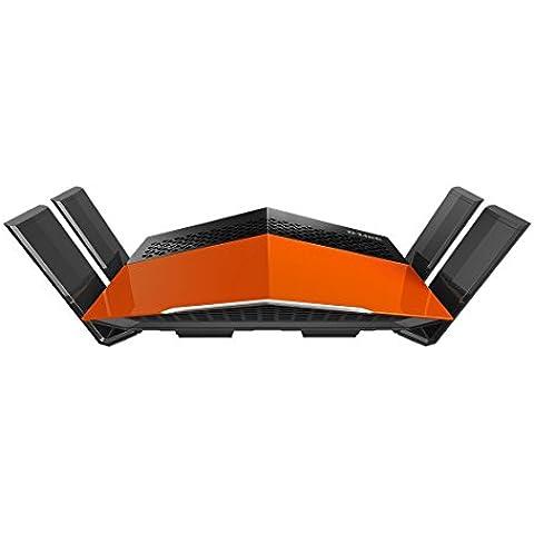 D-Link DIR-869 – Router WiFi AC 1750 EXO (Quad Band, 1750 Mbps, antenas amplificadas High Power, MIMO 3x3, 4 puertos Gigabit 10/100/1000 Mbps, 1 puerto WAN Gigabit, WPS, WPA2,