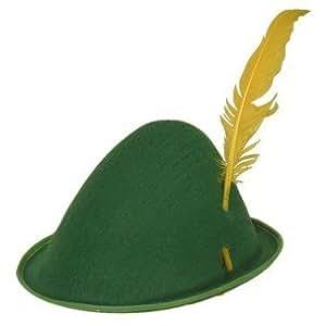 Chapeau feutre tyrolien avec plume