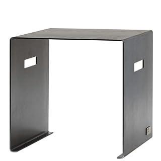 Arte Puro Sitzhocker Cuber aus geöltem Stahl