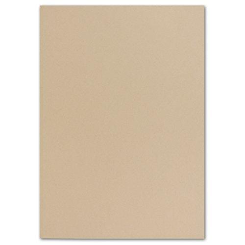 50 DIN A4 Papierbogen Planobogen -Karamel - 160 g/m² - 21 x 29,7 cm - Bastelbogen Ton-Papier Fotokarton Bastel-Papier Ton-Karton - FarbenFroh®