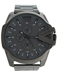 Louis Villiers. Reloj para hombre, de 50 mm, en acero gris, con pulsera marrón de acero LVAG8912-13
