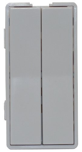 Simply Automated ZS12-W Custom Series Dual Tall Faceplate, White by Simply Automated Dual-faceplates