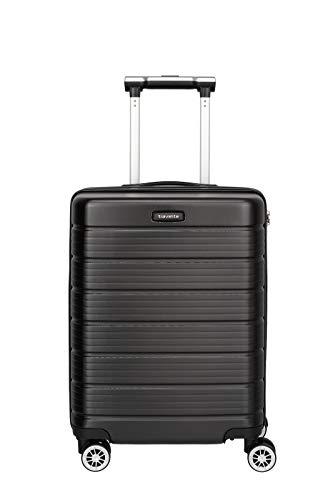 Travelite Funktionaler, smarter, starker, sportlich-eleganter Business-Reisekoffer Hartschalen Trolley Soho Koffer, 55 cm, 43 Liter, Schwarz