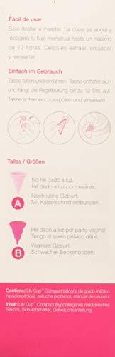 Lily Cup Compact Intimina Menstruationstasse, einziehbar, Größe A - 3