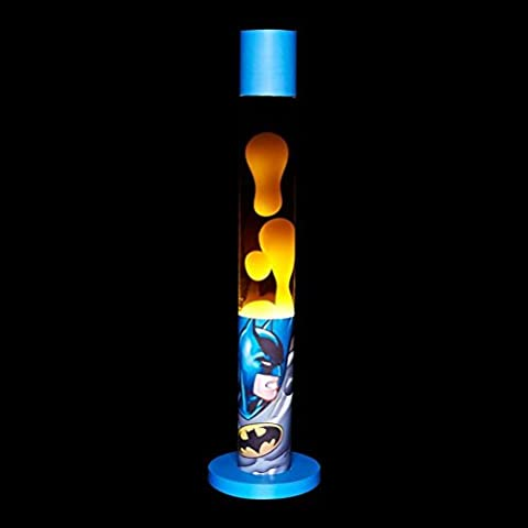 Producto oficial de DC Comics Batman Arte Retro lámpara de mesa de lava luz de noche, Caja de Regalo)