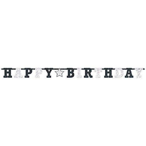 amscan 120173 Happy Birthday Bustaben-Banner, prismatisch, 2,4 m x 16 cm groß