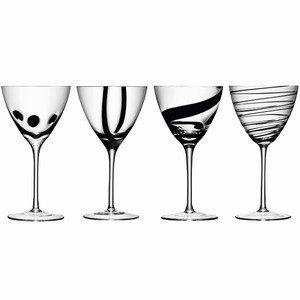 LSA International Jazz Wine Goblets x 4