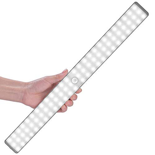LED Sensor Licht 78 LED,Cynthia Wiederaufladbar Schrank Licht mit Bewegungsmelder,4 Modi Intelligente LED Küchenleuchte,Weiches Licht für Küche,Kleiderschrank,Kofferraum,Treppe,Verschiedene Räume