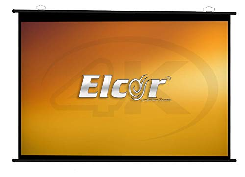 ELCOR Map Type Projector Screen,4:03 Aspect Ratio, 4ft.Height x 6ft.Width, 84 Inch Diagonal in Ultra HD,3D,4K Technology.