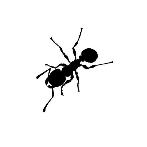 Wymw 12,4 Cm * 13,6 Cm Schillernde Karikatur Minimalistischen Insekten Ameise Schatten Coole Vinyl Aufkleber Nette Auto Aufkleber - Schillernde Schatten