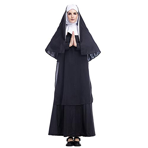 KLJJQAQ Halloween Kostüm Cosplay Jesus Christus Männer Missionar Priester Kostüm Maria Priester Nonne Kostüm Rollenspiele, - Jesus Christus Kostüm