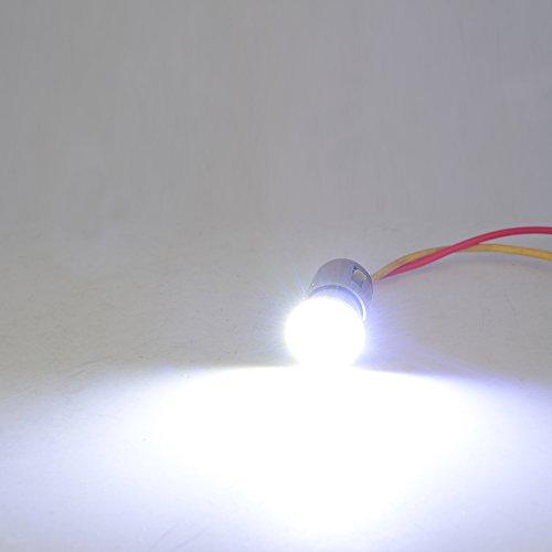 Moto LED lumières de signalisation à LED Ampoule pour motocycles à haute luminosité puce Multicolore ampoules à 4 couleurs optionnels avec lampeggiatore blanc