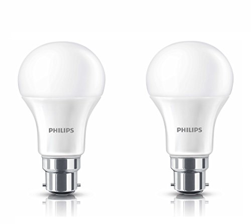 Philips B22 9-Watt LED Bulb (Warm White/Golden Yellow, Pack of 2)