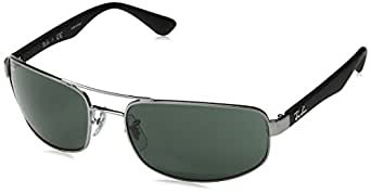 Ray-Ban RB 3445 61 004 Rb 3445 Rectangular Sunglasses 61, Gunmetal