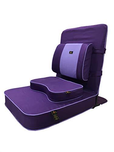 Friends of Meditation Buddha Meditations- und Yoga-Stuhl, mit Rückenstütze und Meditationsblock, Größe XL, Marineblau