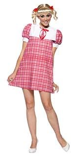 ppie 70'S Tv Show Female Costume Dress Adult Standard ()
