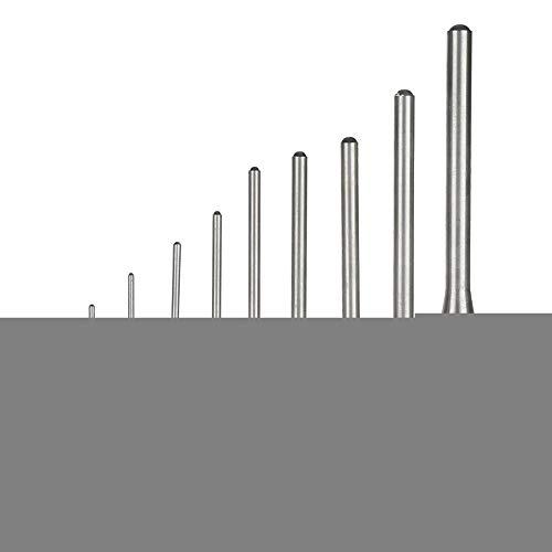 Mootea 9 STÜCKE Durable Steel Roll Pin Punch Set Mechanik Professionelle Tool Kit -