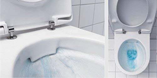 Geberit Duofix Vorwandelement mit Delta 21, Keramag Renova Nr. 1, rimfree, Spülrandlos, Tiefspül-WC, inkl. Sitz und Beschichtung - 5