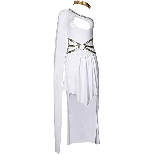 Göttin Kostüm Der Griechischen Kind - Halloween Die Rolle Der Frauen - Kostüm One-Schulter Griechische Göttin Kleid Die Bühne Kleidung, Weiß, Größe