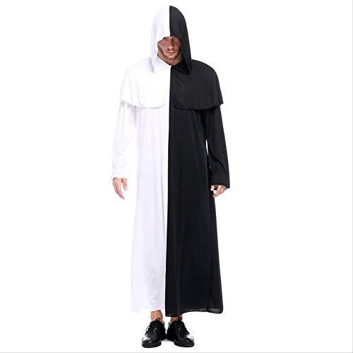 ZmnXnm Paar Schwarz Und Weiß Vergänglichkeit Cosplay Kleid Halloween Geist Festival Kleid, Sexy Anzug Weibliche Geist Kostüm Durchschnittlicher Code - Weibliche Kostüm Männer