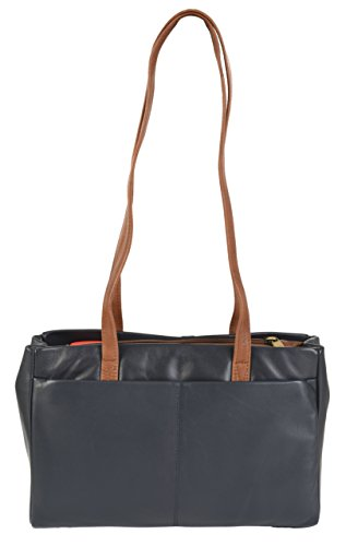 Gigi, Borsa a spalla donna Multicolore Navy Blue & Mid brown medium Navy Blue & Mid brown