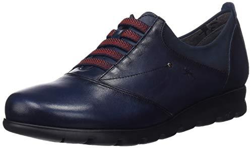Fluchos Susan, Zapatos Cordones Derby Mujer, Azul