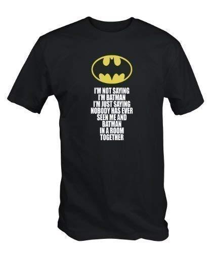 6TN Uomo Divertente Non STO dicendo Che Sono T Shirt Batman (Medio (M))