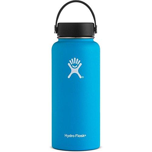 Hydro Flask Wide Mouth Bottiglia ISO 946ml vari. Colori, Wide Mouth, Pacific, 32-Ounce