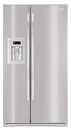 Beko GNE V322 PX Side by Side / A+ / No-Frost / 0°C Zone / 443 kWh/Jahr / 364 Liter Kühlteil / 150 Liter Gefrierteil / 177.5 cm Höhe / Spender für Wasser, Eiswürfel und zerstoßenes Eis / Edelstahloptik / Festwasseranschluss