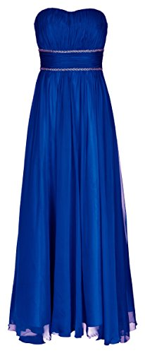 Juju&Christine Abendkleid Ballkleid Festkleid Hochzeitskleid Chiffon Royalblau 1512 (44)